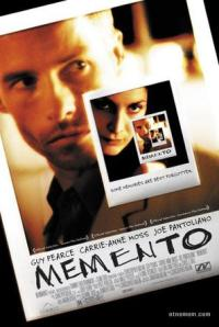 poster of Christopher Norlan's movie <Memento> on 2000